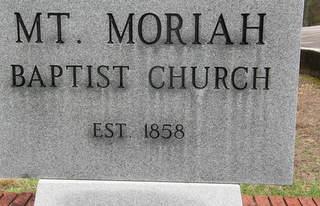 Mt Moriah Church Sign