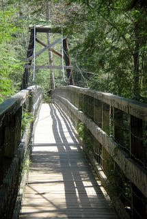 Approach to Swinging Bridge